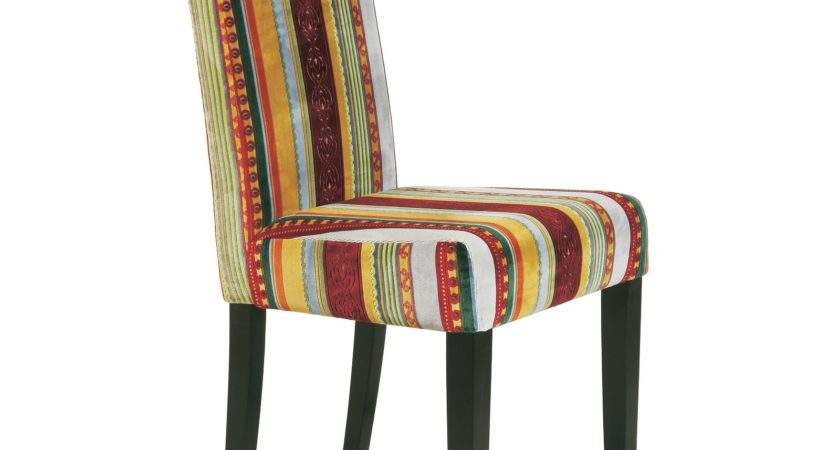 Elegant Design Chair Britain Striped Upholstered
