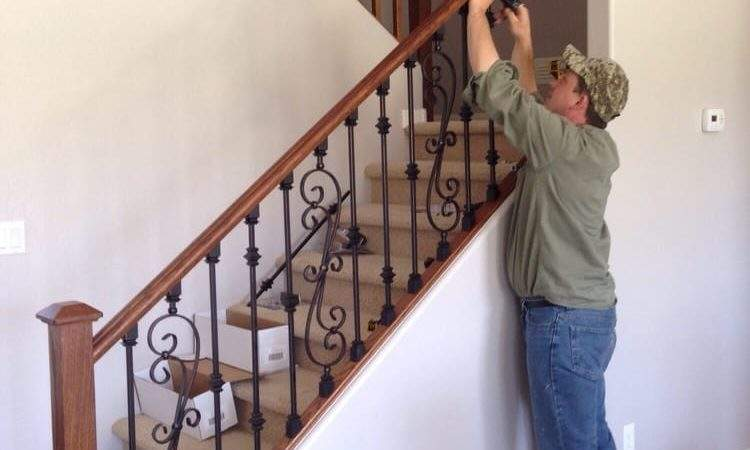 Eli Replacing Wood Stair Spindles Wrought Iron Ones
