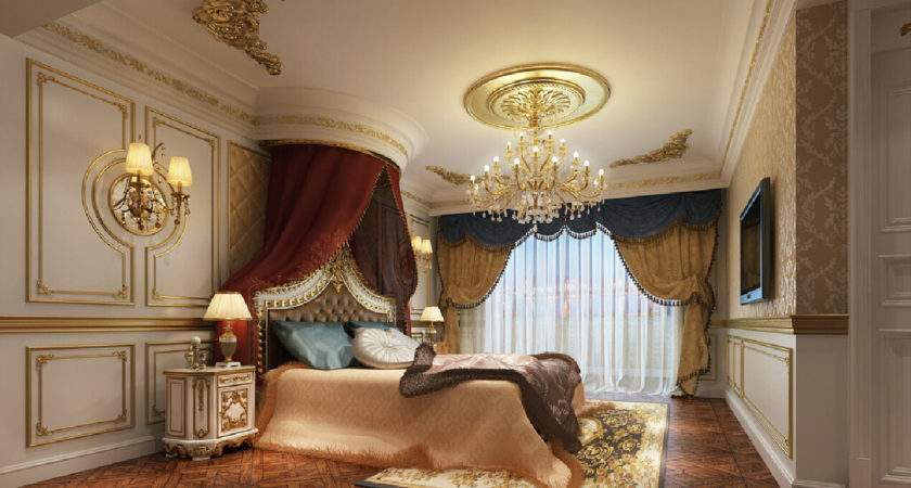 European Bedroom Luxurious Neoclassical Style
