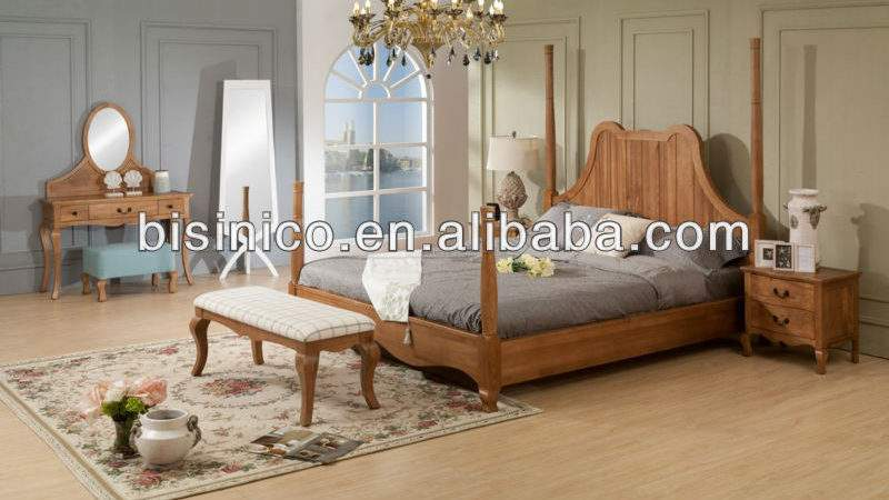 European Romantic Country Furniture Sets Bisini Bedroom