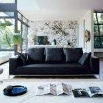 Excellent Black Leather Couch Living Room Decor