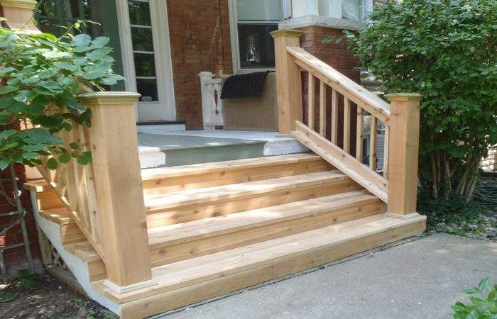Exterior Wooden Stairs Design Kits Plans Cost