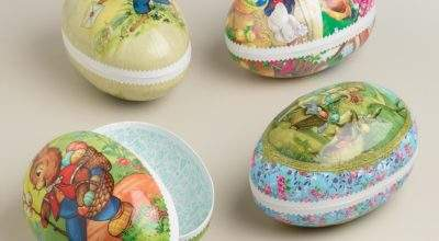 Extra Large German Nesting Easter Egg Containers Set