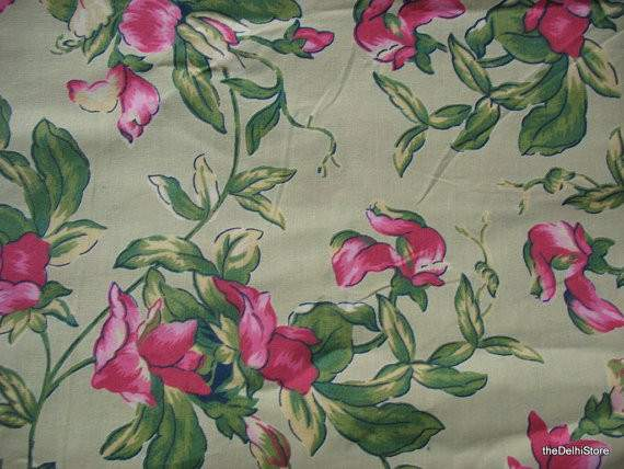 Extra Wide Floral Print Country Cottage Home Thedelhistore