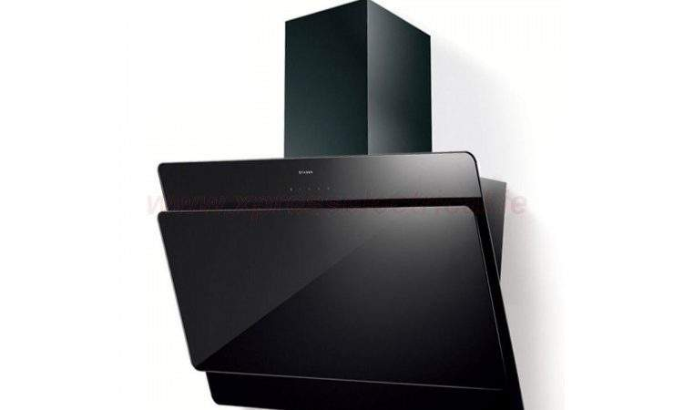 Faber Cocktail Angled Black Glass Extractor Hood