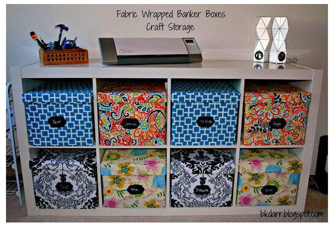 Fabric Bankers Boxes