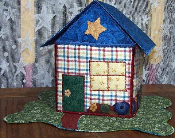 Fabric Box Plaid Country Cottage Organizer Starryhomecrafts