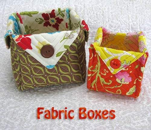 Fabric Boxes Freemotion River