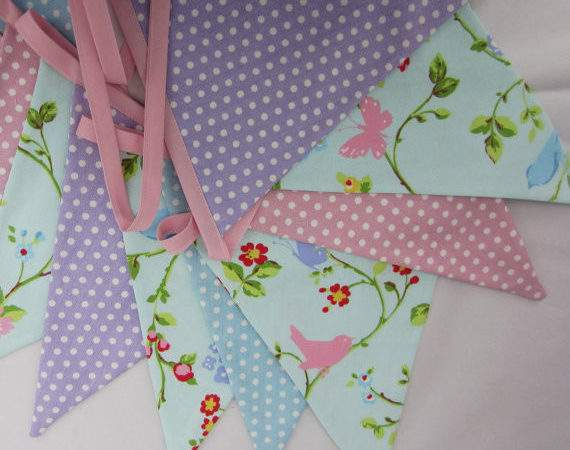 Fabric Bunting Country Cottage Style Allthetrimmingsuk