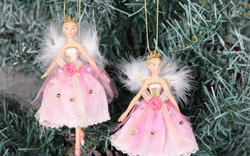 Fairy Princess Christmas Tree Decorations Red Berry