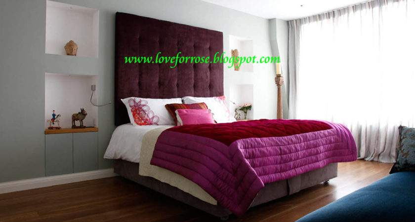 Fashion Life Style Luxury Pink Gold Bedroom Design