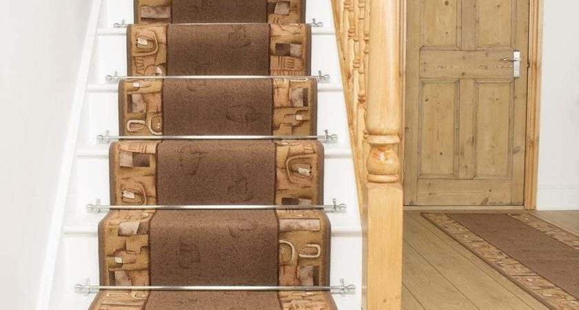 Feria Brown Stair Carpet Runner Narrow Staircase