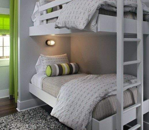 Floating Bunk Beds Contemporary Boy Room Summer
