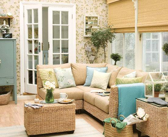 Floral Conservatory Decorating Ideas