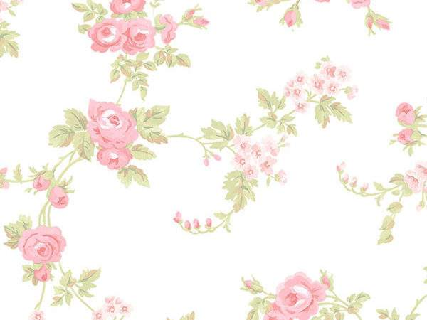Floral Print Pink Green White