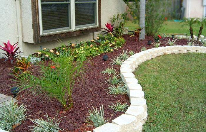 Flower Bed Plans Front House Landscaping