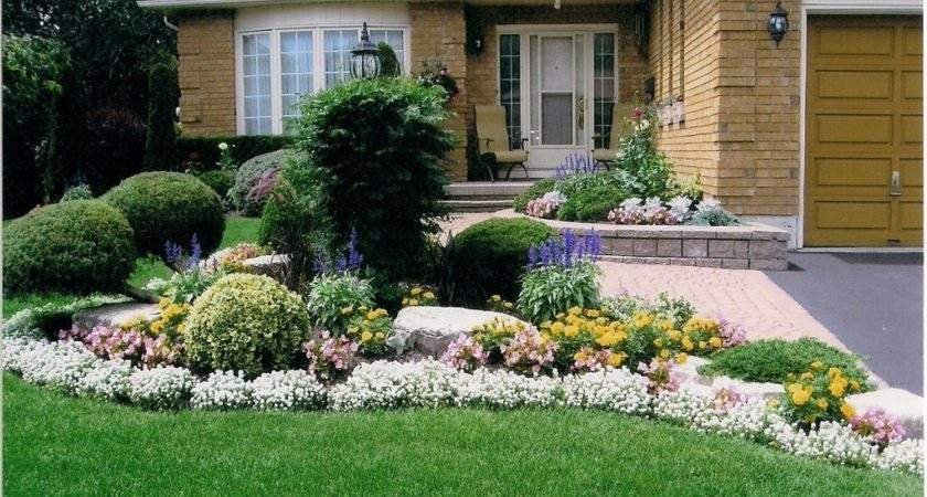 Flower Beds Front House Landscaping Now
