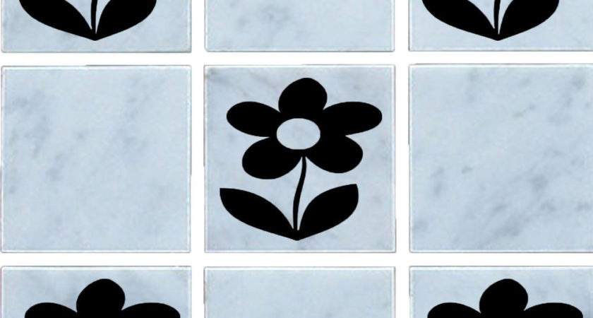 Flower Vinyl Wall Tile Stickers Decal Transfers