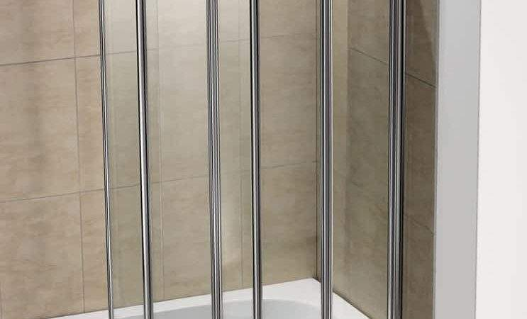 Fold Pivot Folding Bath Shower Screen Glass