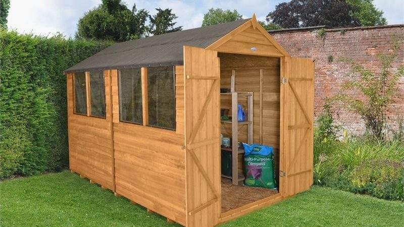 Forest Honey Brown Overlap Apex Wooden Shed