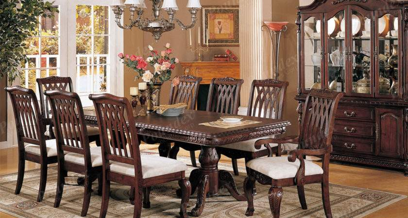 Formal Traditional Dining Set Antique Table