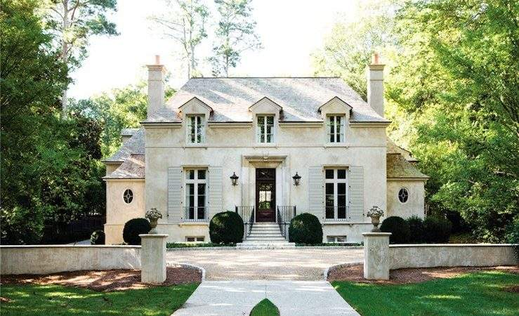 French Chateau Home Exterior Atlanta Homes