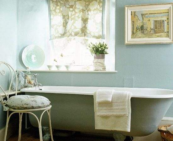 French Country Bathroom Idea Freestanding