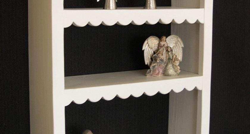 French Country Scallop Wall Shelf Inch