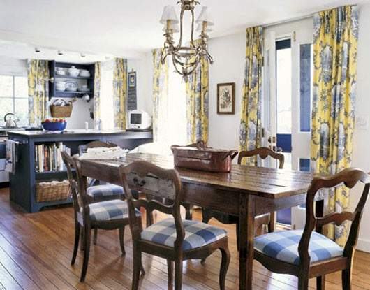 French Country Style Dining Room Decorating Ideas