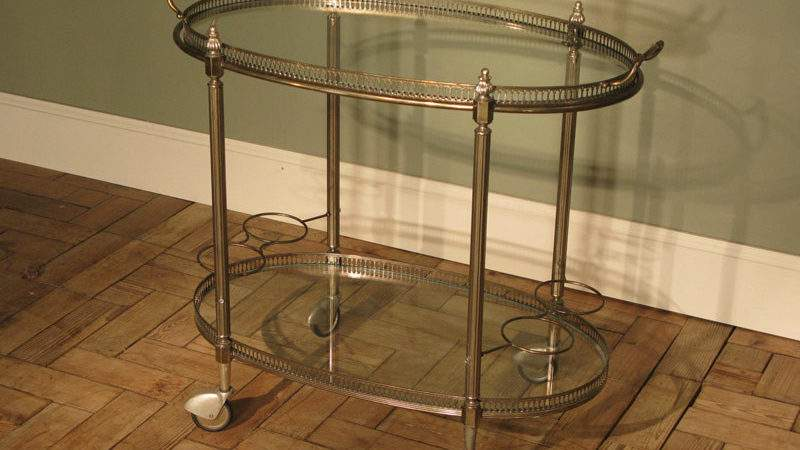 French Drinks Trolley Detachable Tray Furniture