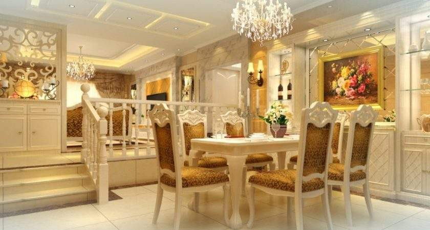 French Neo Classical Romantic Dining Room House