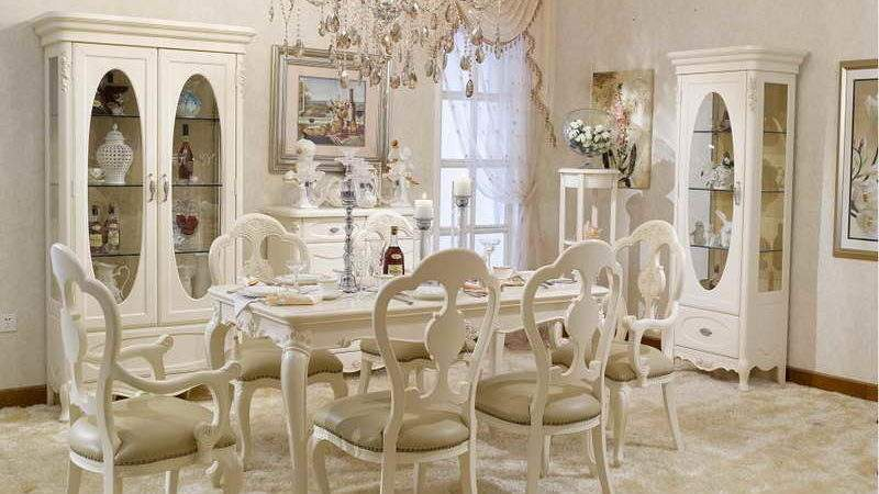 French Style Dining Table Chairs Interior Design