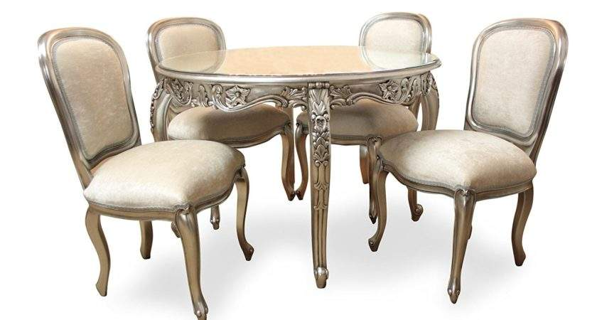 French Style Furniture Carved Round Dining Table