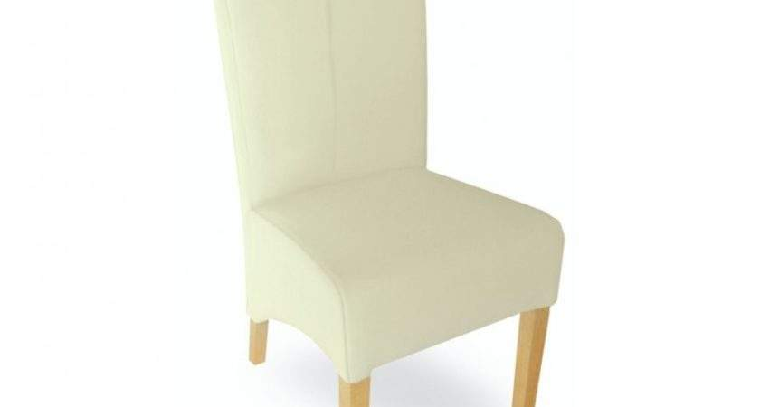 Furniture Cream Leather Dining Chairs Picclick