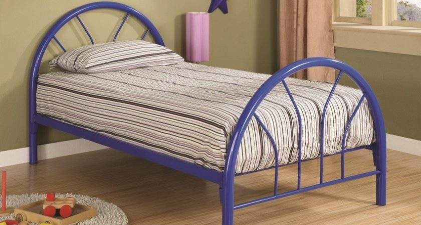 Furniture Outlet Blue Metal Frame Bed Kids