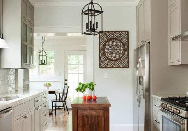 Galley Kitchen Island Traditional Antique