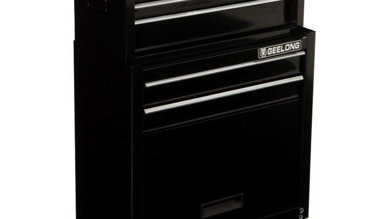 Geelong Drawer Powder Coated Tool Chest Black
