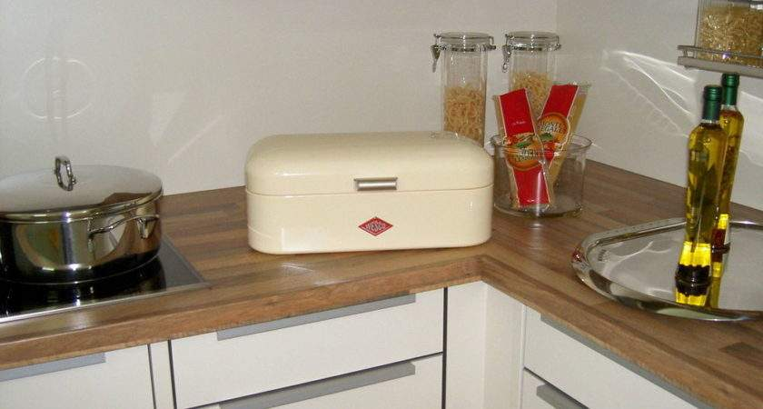 Genuine Wesco Retro Bread Bin Grandy Almond Ebay
