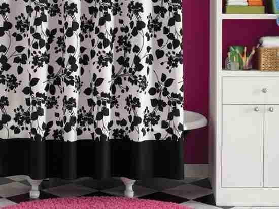 Getting Great Black Shower Curtain Darbylanefurniture