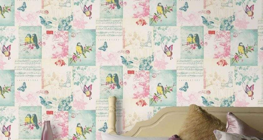 Girls Chic Kids Bedroom Feature Wall Decor