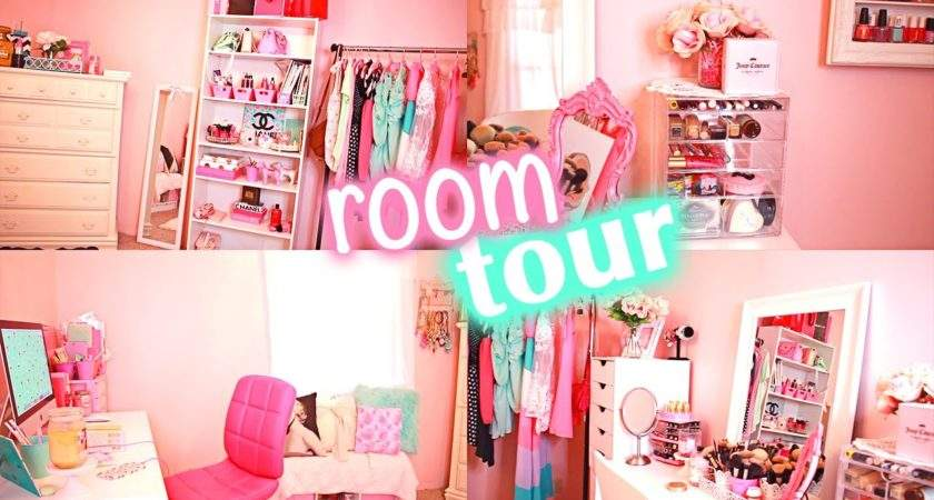 Girly Room Tour Office Beauty Youtube