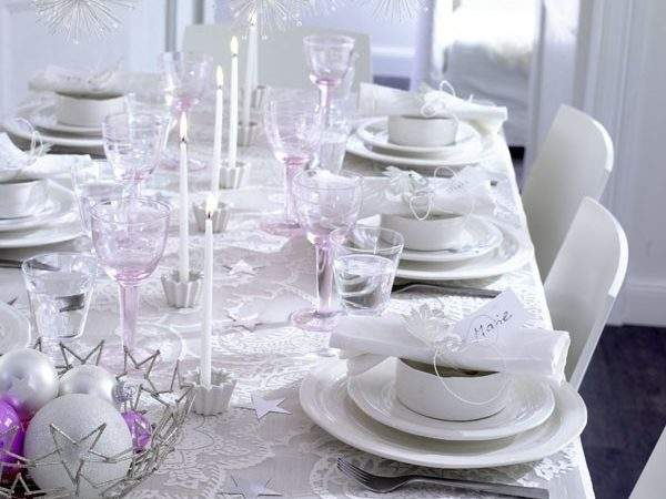 Glamorous Christmas Table Decorations Gold Silver