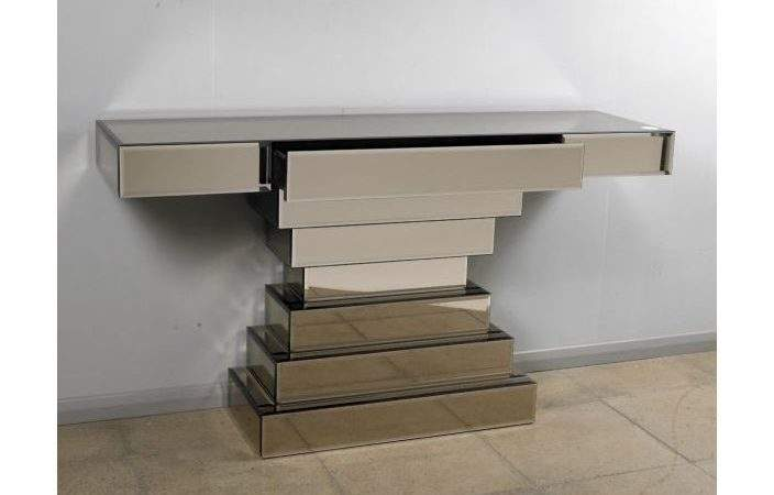 Glass Console Hall Table French Furniture