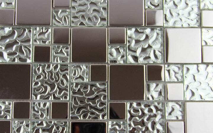 Glass Metal Mosaic Tile Kitchen Backsplash Bathroom