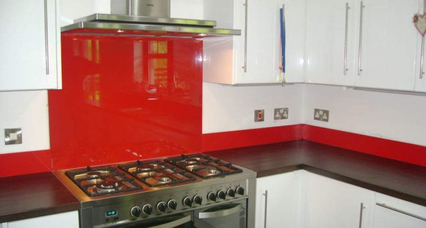 Glass Splashback Traffic Red Ral Home Improvements