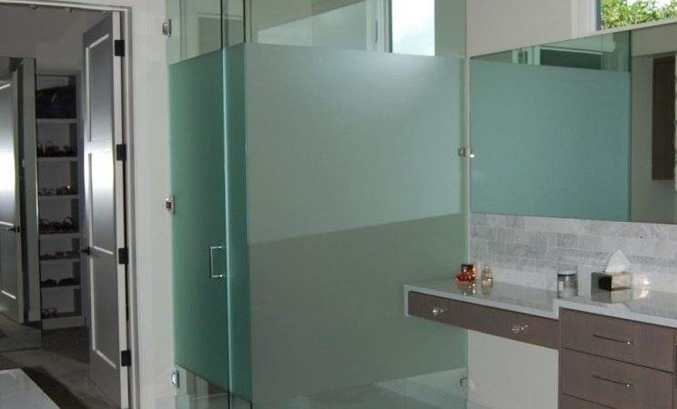Glass Wall Dividers Bathroom Glamor Modern Style