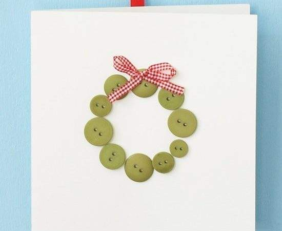 Glue Buttons Make Your Own Christmas Cards
