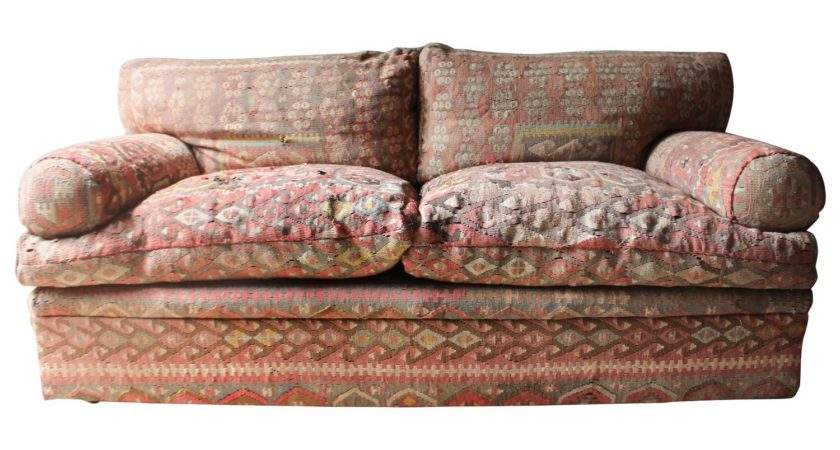 Good Quality Three Seat Kilim Upholstered Sofa George
