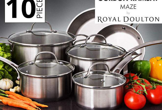 Gordon Ramsay Royal Doulton Maze Cookware Set