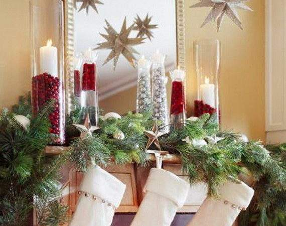 Gorgeous Christmas Holiday Mantel Decorating Ideas